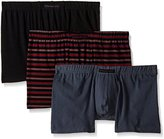 Perry Ellis Men's 3-Pack Stripe and Solid Boxer Brief