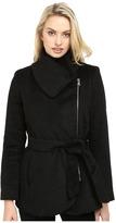 Jessica Simpson Brushed Wool Touch Coat w/ Asymmetrical Zip Women's Coat