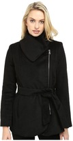 Jessica Simpson Brushed Wool Touch Coat w/ Asymmetrical Zip