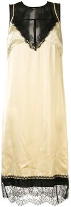 No.21 Panelled Satin Slip Dress