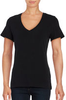 Lord & Taylor Solid V-Neck T-Shirt