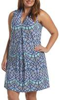 Tart Plus Size Women's 'Tara' Print Jersey A-Line Dress