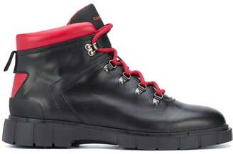 Car Shoe Lace-Up Leather Ankle Boots