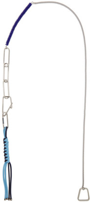 Dries Van Noten Silver and Blue Mixed Keychain