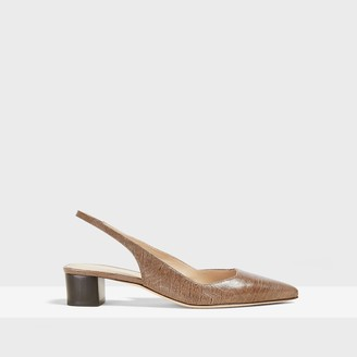 Theory Block Slingback in Lizard Print Leather