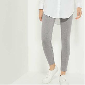 Joe Fresh Women's Mix Knit Ponte Leggings, Light Grey (Size XS)