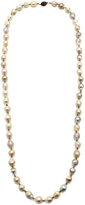 Bejeweled Pearl And Pyrite Necklace