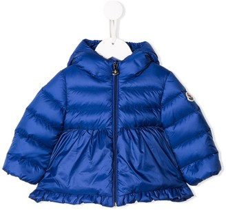 Moncler frill trim padded jacket