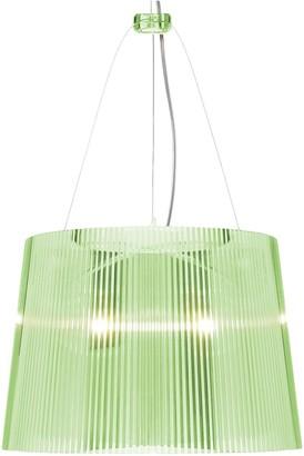 Kartell 26cm Ge Suspension Lamp - crystal - Yellow/Yellow/Green
