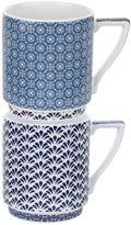 Ted Baker Portmeirion stacking mug set of 2 balfour III&IV