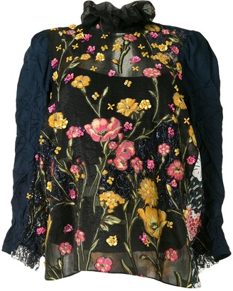 Biyan Floral Embroidered Blouse
