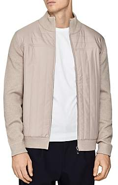 Reiss Quentin Quilted Front Zip Up Jacket