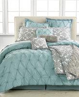 Jasmine Blue 10-Pc.Queen Comforter Set
