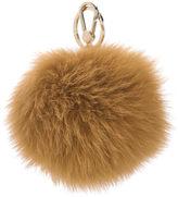 Furla Women's Bubble Fur Pom Pom Keyring Zafferano