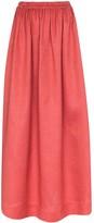 Matteau pleated linen skirt