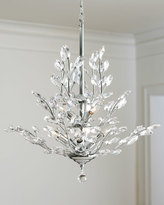 Horchow Upside-Down 9-Light Silver-Leaf Chandelier