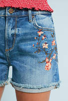 Driftwood Lulu High-Rise Embroidered Denim Shorts