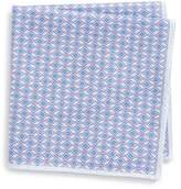 Eton Geometric Silk Pocket Square