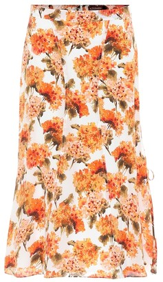 Altuzarra Exclusive to Mytheresa May floral high-rise silk midi skirt