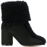 Maison Margiela Tabi ankle boots - women - Calf Leather/Leather/Sheep Skin/Shearling - 35