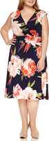 Ronni Nicole Sleeveless Floral Fit & Flare Dress-Plus