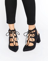 London Rebel Ghillie Point Kitten heel Shoes