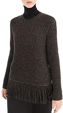 Max Mara Femme Fringed Melange Sweater