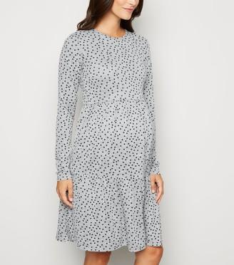 New Look Maternity Light Spot Fine Knit Smock Dress
