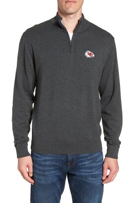 Cutter & Buck Kansas City Chiefs - Lakemont Regular Fit Quarter Zip Sweater