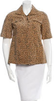 Mayle Suede Leopard Print Jacket w/ Tags