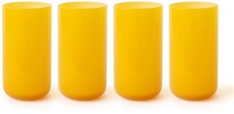 Jonathan Adler Yellow Pop Highball Glass Bundle