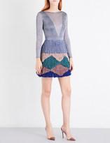 Missoni Backless metallic-knit zigzag dress