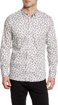 Ted Baker Slim Fit Paisley Button-Up Shirt