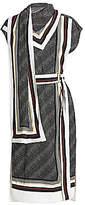 Proenza Schouler Women's Belted Logo-Printed Scarf Dress - Size 0