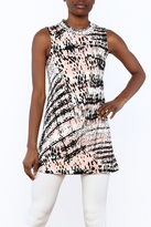 Private Label Abstract Tunic Top