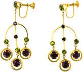One Kings Lane Vintage 1950s Etruscan Revival Earrings