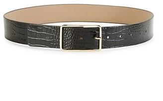 B-Low the Belt Milla Croco-Print Leather Belt