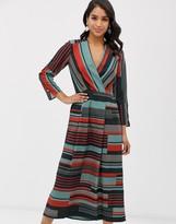 Closet London Closet wrap pleated midi dress