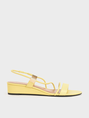 Charles & Keith Strappy Slingback Wedges