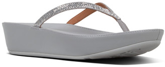 FitFlop Women's Sandals Silver - Silver Linny Crystal Leather Sandal - Women