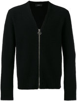 Joseph Boiled knit zipped cardigan - men - Polyamide/Wool - S