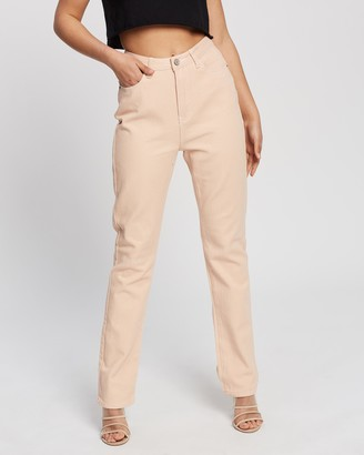 Missguided Women's Pink High-Waisted - Riot High-Waisted Mom Jeans - Size 10 at The Iconic