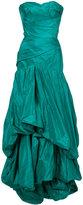 Oscar de la Renta draped layered gown