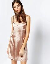 See You Never Denim See You Never Rose Gold Slip Dress
