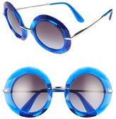 Dolce & Gabbana Women's 50Mm Round Sunglasses - Transparent Blue
