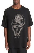 Yohji Yamamoto Men's Oversize Skull Graphic T-Shirt