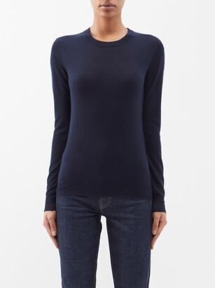 Joseph Cashair Longline Cashmere Sweater - Navy
