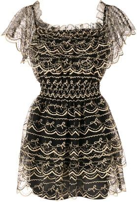 Alice McCall Satellite Of Love lace mini dress