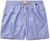 Rubinacci - Mid-Length Turtle-Print Swim Shorts