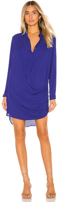 Krisa Drape Button Front Mini Dress